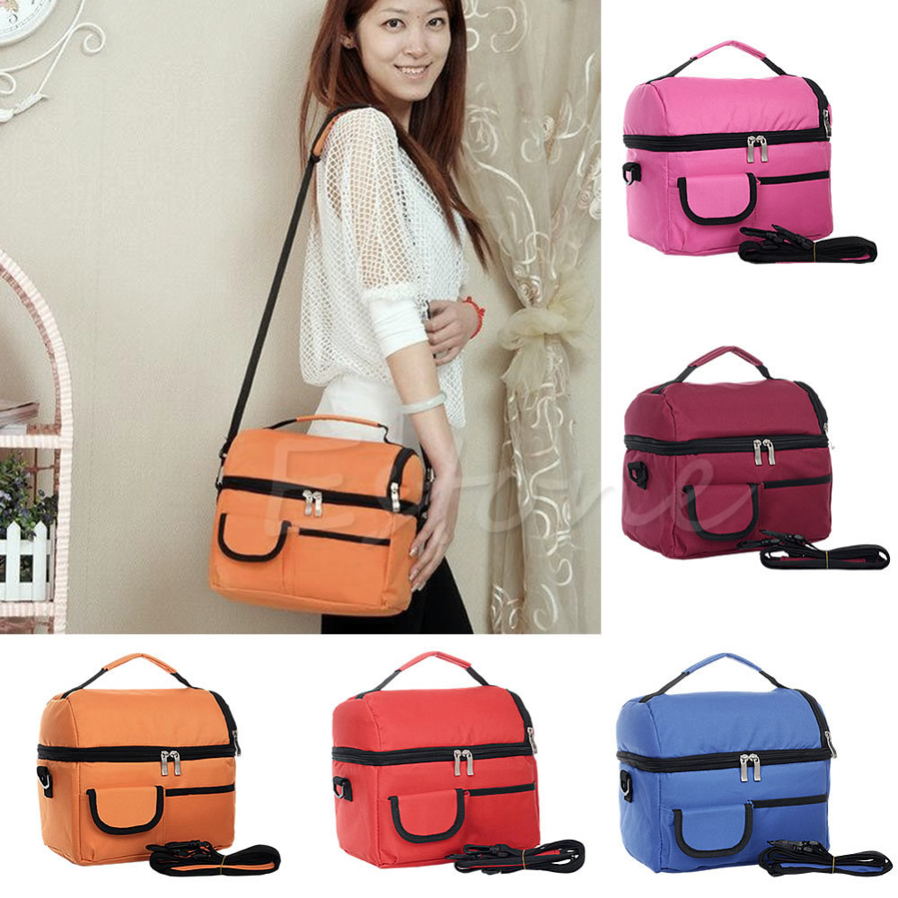 Thermal Insulated Waterproof Shoulder Picnic Cooler Lunch Bag Storage Box Tote<br><br>Aliexpress