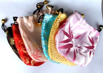 best price for Gift bag   Jewelry Pouch/bag 10.5 X 10.5cm chinese  silk bag/pouch
