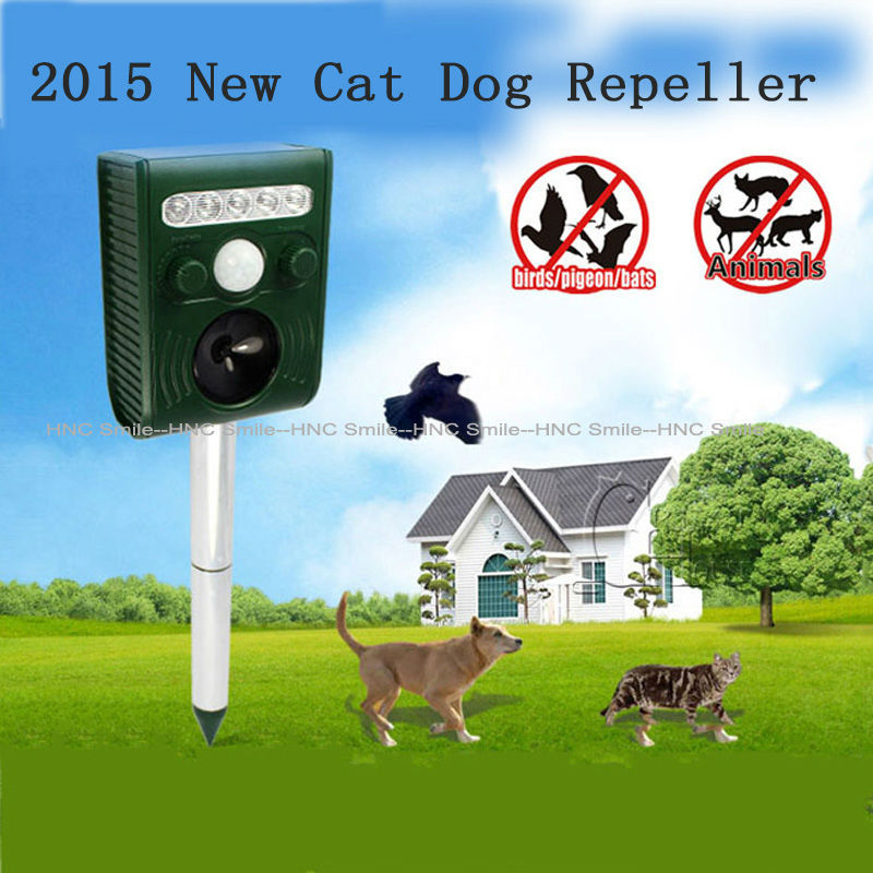 Solar Cat Dog Mole Repeller Ultrasonic Animal Repeller Pest Reject Repellent Chaser Yard Garden OutDoor Hot Sale(China (Mainland))