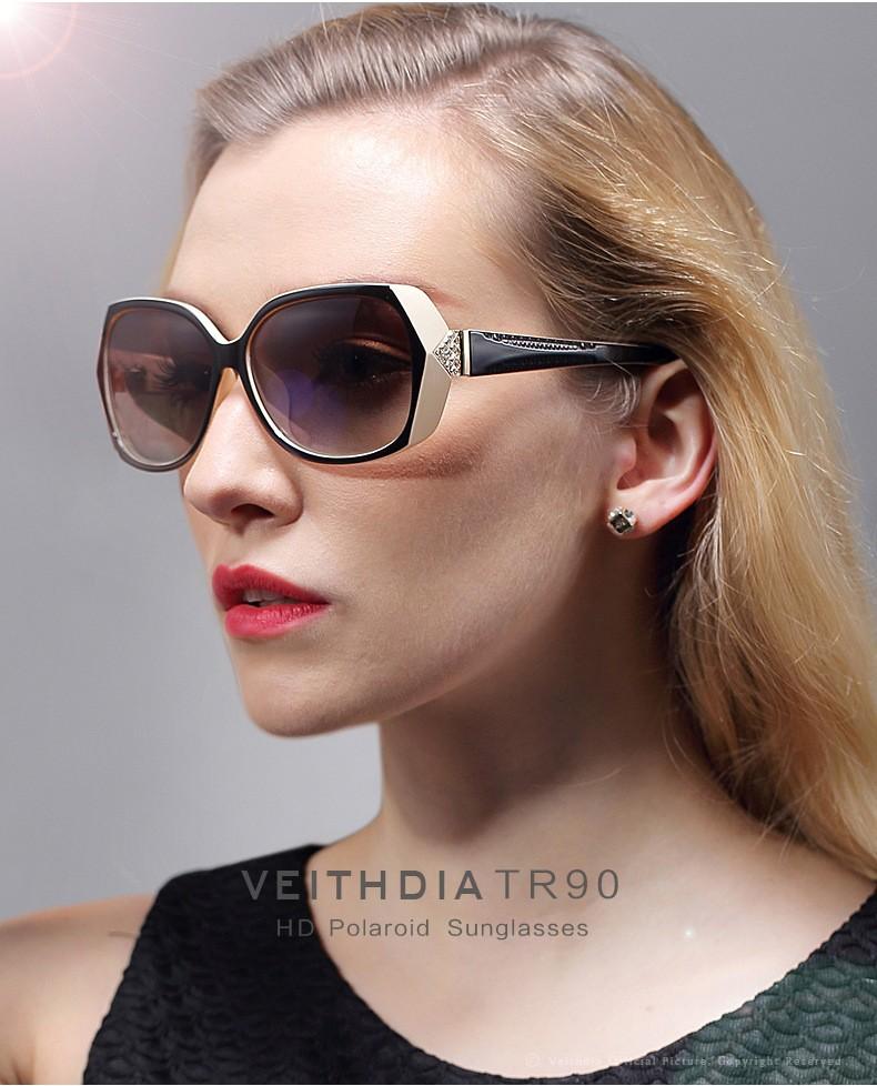 VEITHDIA  Women Fashion Big Oversize Sunglasses Polarized Sun Glasses Ladies Vintage oculos de sol feminino For Women VT7011