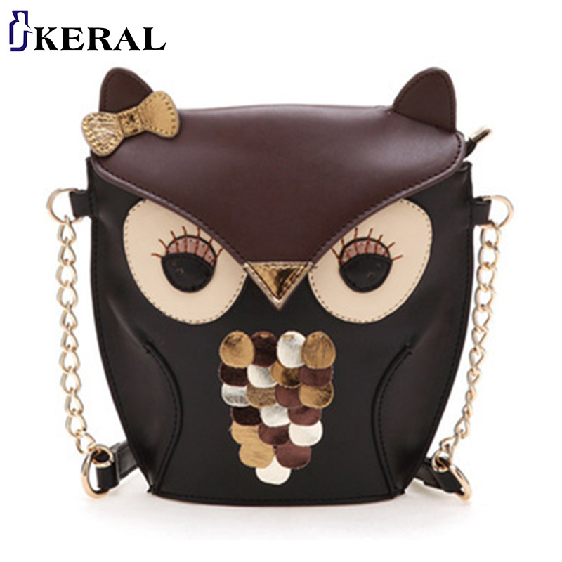 Fashion Cartoon Bag Owl women Shoulder Bags Leisure Women Leather Handbag Fox wallets casual Messenger - KERAL1688 Store store