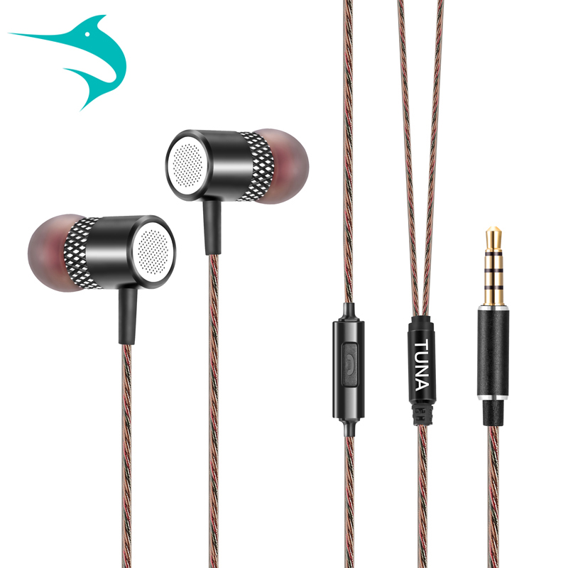 Tuna-G3 Original Stereo Bass earphoneWith microphone Headphones Metal handsfree Headset 3.5mm Earbuds IPhoneSamsung MP3 - Tuna official flagship store