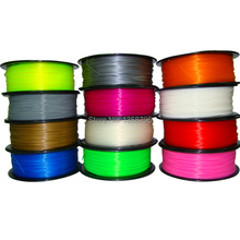 Free Shipping 16 colors 3d printer filament PLA/ABS 1.75mm/3mm 1kg plastic Rubber Consumables Material MakerBot/RepRap/UP/Mendel
