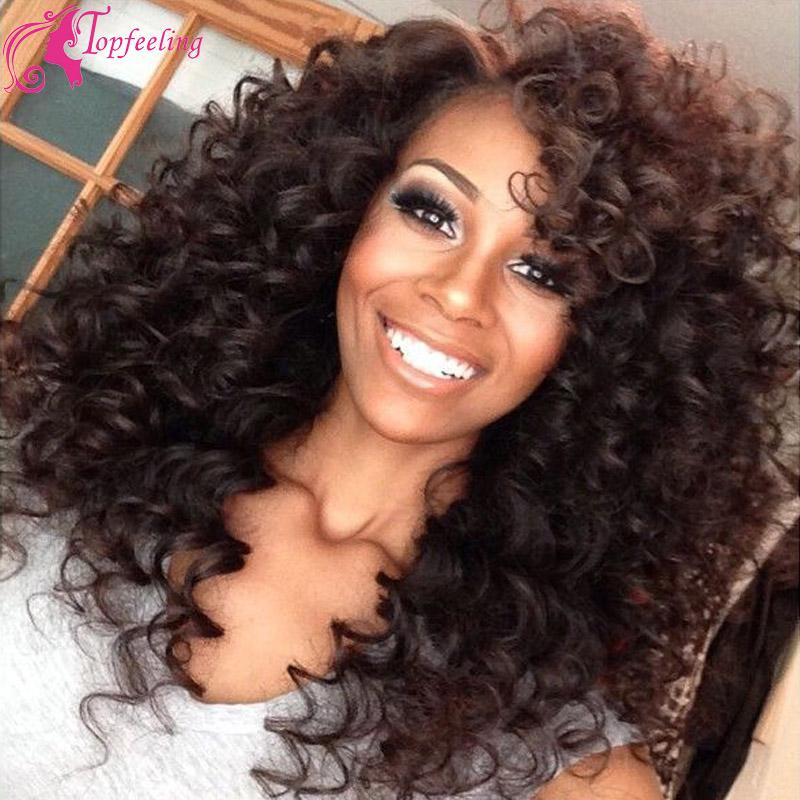 Brazilian Virgin Hair  Lace  front Human Hair Wigs Gluesless Full Lace Wig Brazilian Curl Human Hair Wig Kinky Curl Wigs