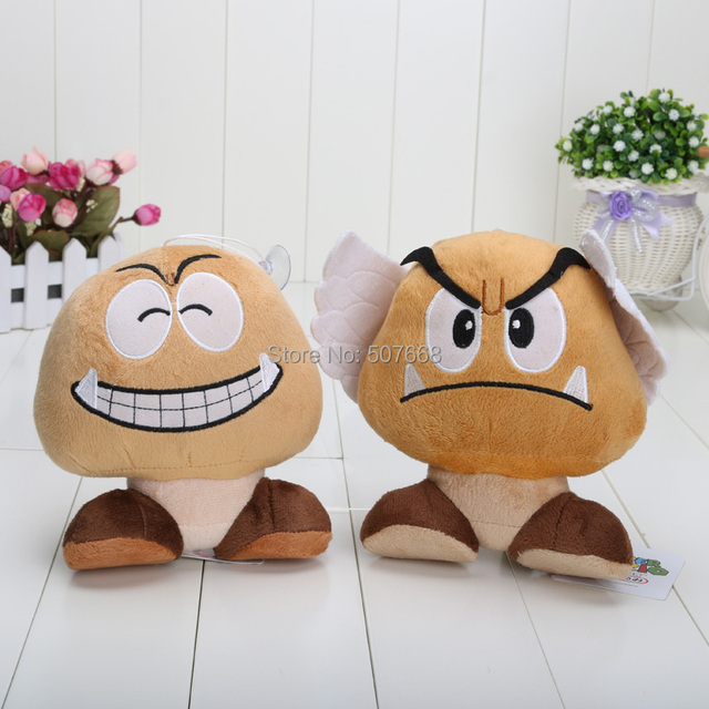 18cm 30pcs/Lot New Super Mario Bros Goomba Plush Doll Soft Toy Wholesale Free Shipping EMS
