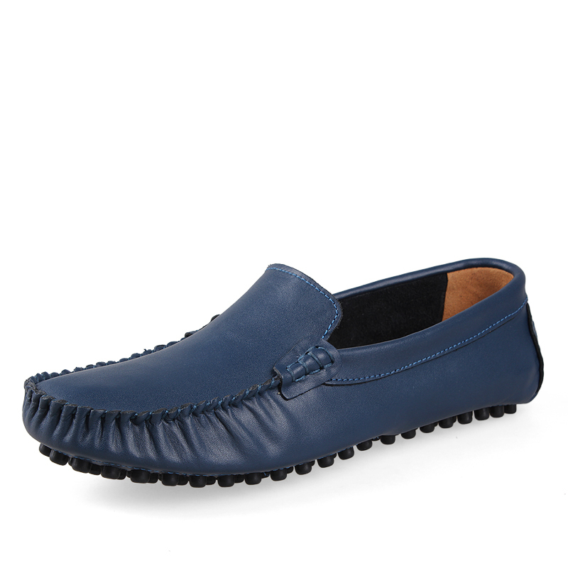 Large Size Plus 45.46.47 Genuine Leather Men's Business Casual Shoes, Peas Driving shoes,Small Yards 35.36.37 - Online Store 7364670 store