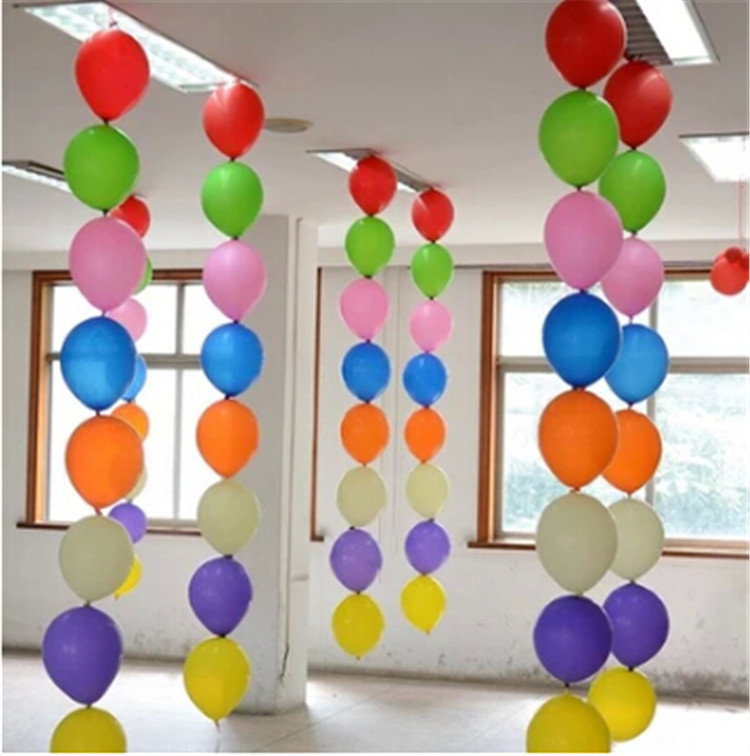 12inch latex tail balloons party decoration kids classic for Balloon decoration at home