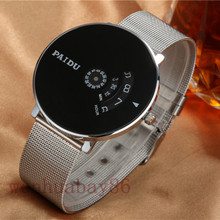 Paidu Full Steel Watch Women dress watch hour clock mens mesh wire fashion Casual watch Unisex Quartz wristwatch relogio relojes(China (Mainland))