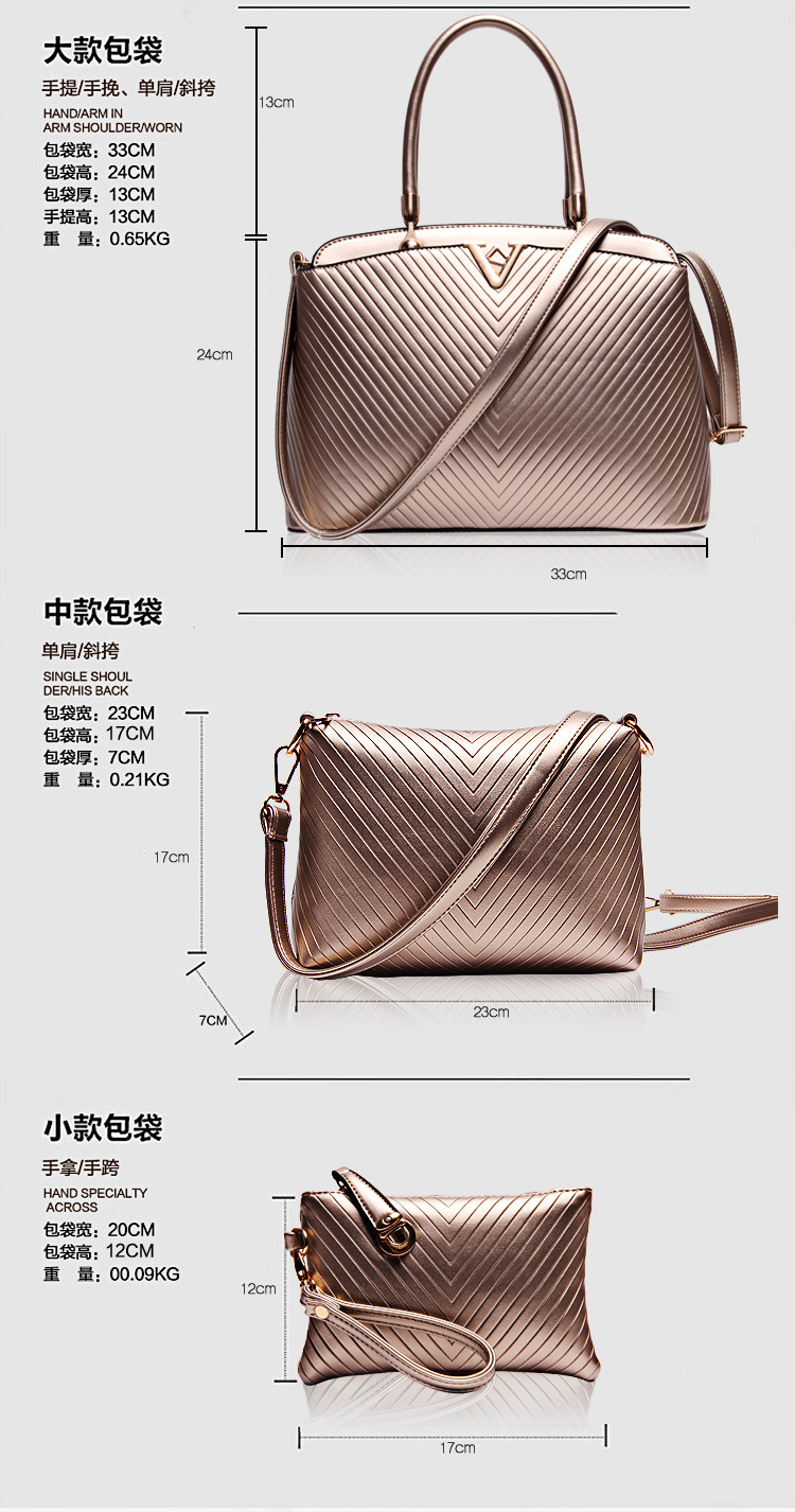 HOT 2015 Fashion Women Genuine Leather Handbags Famous Brand Cowhide