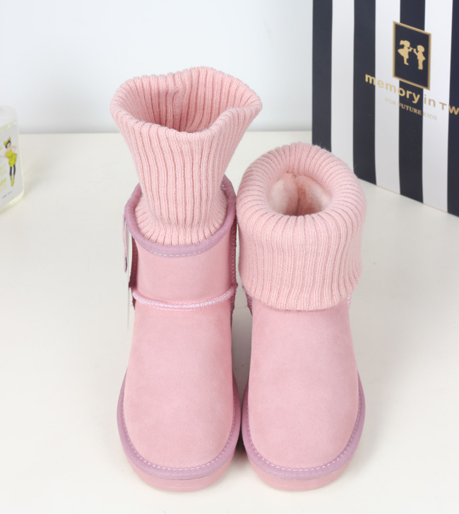 women snow boot winter sweet genuine leather yarn short snow boots female thickening thermal cotton-padded pink white Thick warm<br><br>Aliexpress