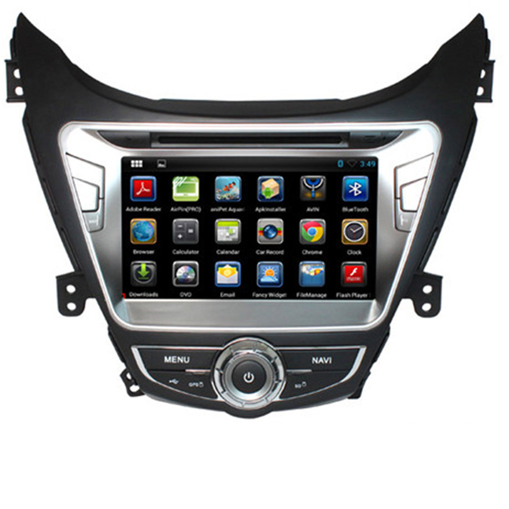 Free Shipping 8'' Android 5.1.1 Car DVD Radio for Hyundai Elantra 2012 With GPS Wifi 3G Quad Core 16G Capacitive Scren 800*480(China (Mainland))