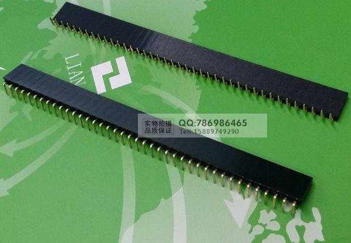 Free shipping 10pcs 40 Pin 1x40 2.54 Pin Header Single Row Male Female Header Strip 10pcs New 90 - degree bend the foot  <br><br>Aliexpress