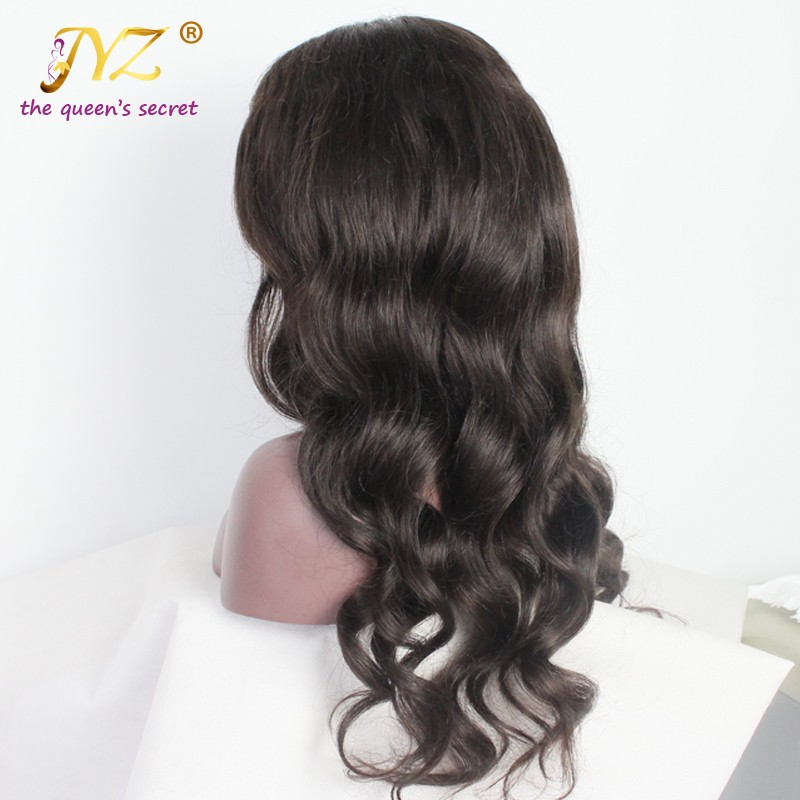 Long Wavy Unprocessed Virgin Peruvian Human Hair Full Lace Wigs For Black Women Natural Color/1b#/2#/4# Lace Front Wig Baby Hair