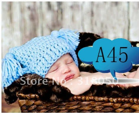 EMS Free shipping!! Accept --baby boys hat,cotton crochet hat,knitting hat for infants,30pcs/lot(China (Mainland))