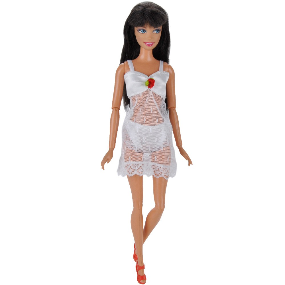E-TING Handmade Horny Pajamas Underwear Lingerie Bra Lace Costume Garments For Barbie Dolls