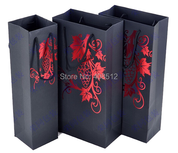 Sell stock One bottle two bottles red table wine carrier bag wine gift paper bag(China (Mainland))
