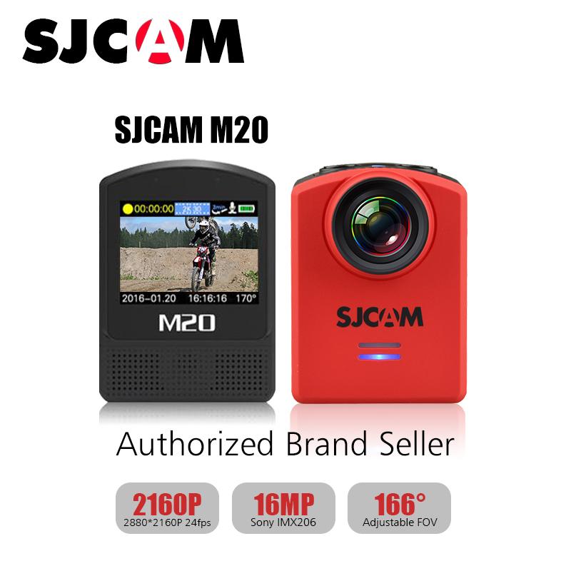 2016! Original SJCAM M20 Gyro Mini Action Helmet Sports DV Cameras 4k 24fps NTK96660 with M20 accessories 30M Waterproof Cam(China (Mainland))