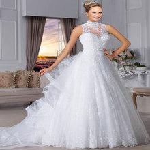 Vestido De Noiva Longa Sleeveless 2017 Mhamad Vintage Wedding Dress Vestidos Sexy Ball Gown Vintage Wedding Gown Jogo De Pinceis(China (Mainland))