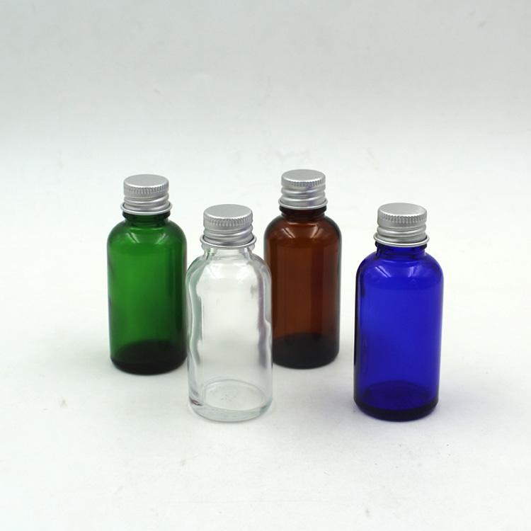 30PCS / 30ML Aluminium cap glass bottle Perfume bottles Portable refined oil Free shipping(China (Mainland))