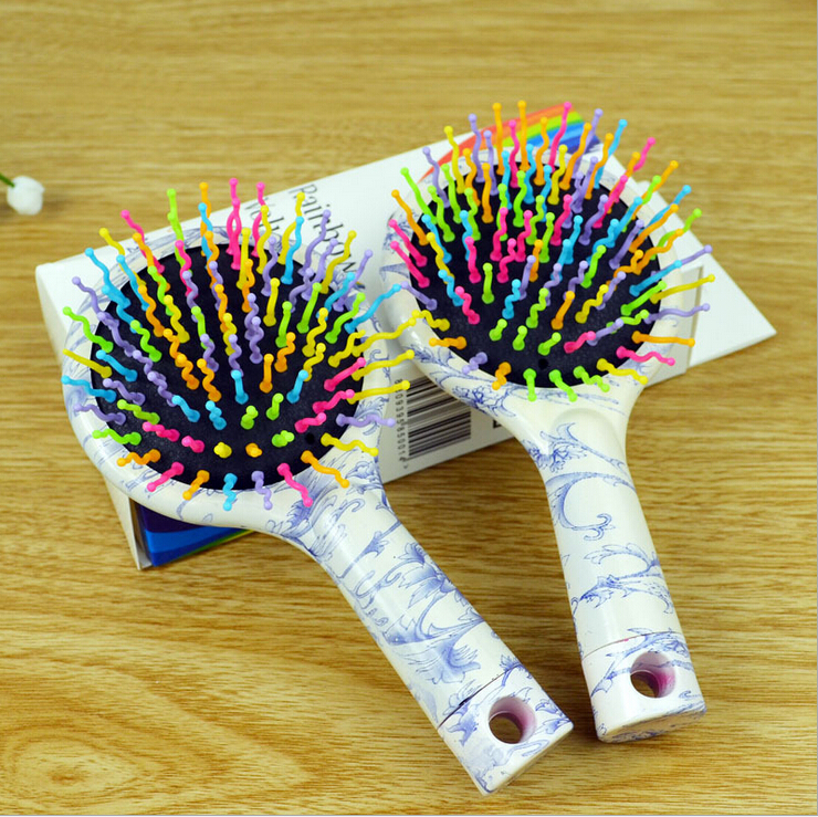 2015 new spring,mix Color Comb Magic hair brush, Brush Magic hairbrush Massage anti-static Brush(China (Mainland))