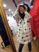 Les femmes dans l'hiver de 2016 pur couleur long blanc duvet d'oie unique-breasted veste manteaux doudounes canada(China (Mainland))