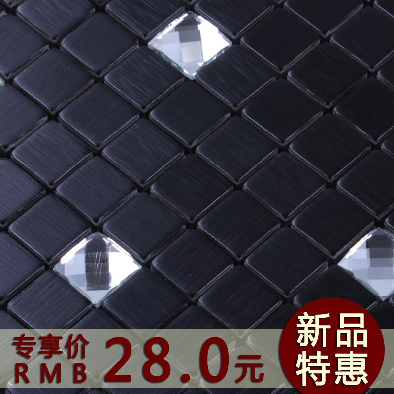 Kai blue diamond surface aluminum plate glass mosaic tile puzzle backdrop self-adhesive kitchen counter N114(China (Mainland))