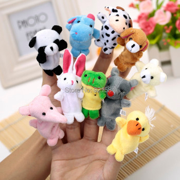 20 pcs/lot finger puppets reborn babies story toy,10 styles animal hand finger puppet doll toy,fantoches de dedo,fantoche de mao