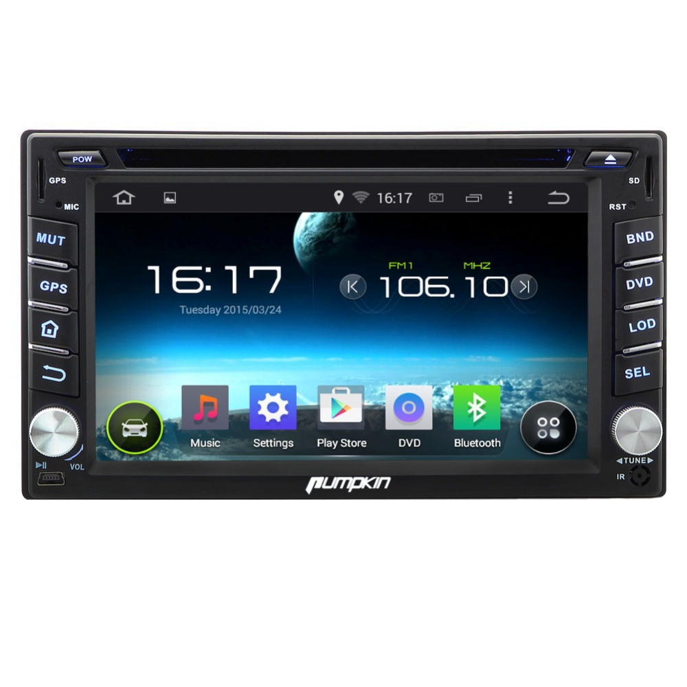 """Car DVD GPS 6.2"""" 2DIN Android 4.4 Universal Capacitive Touch Screen Car DVD Player 1080P Support 3G Wifi  Multi OSD 8GP Map(China (Mainland))"""
