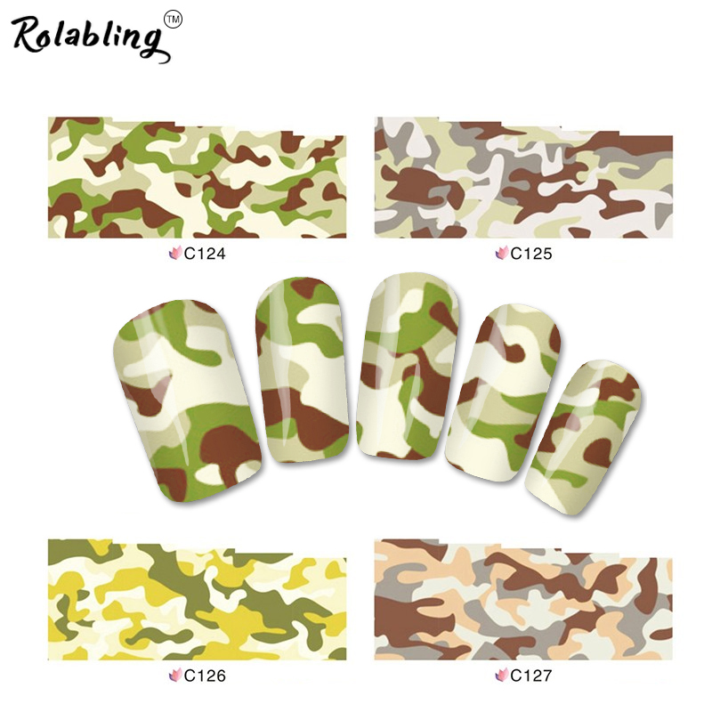 Rolabling Mix Styles Camouflage & Leopard Water Decals Designs full cover nail sticker Nail Art Stiker Nail decoration(China (Mainland))