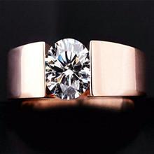 Engagement Wedding Finger Rings CZ Diamond 18K Rose Gold Plated Fashion Brand Rhinestone Jewelry For Women anel Wholesale