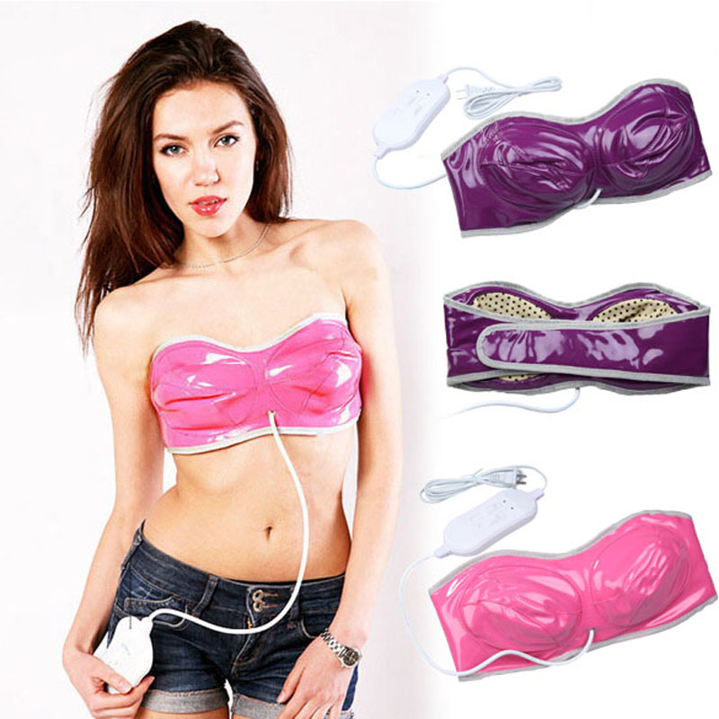 Far-infrared Vibration Electric Breasts Massager Bra Massager for Women Free Shipping US Plug T2N2(China (Mainland))