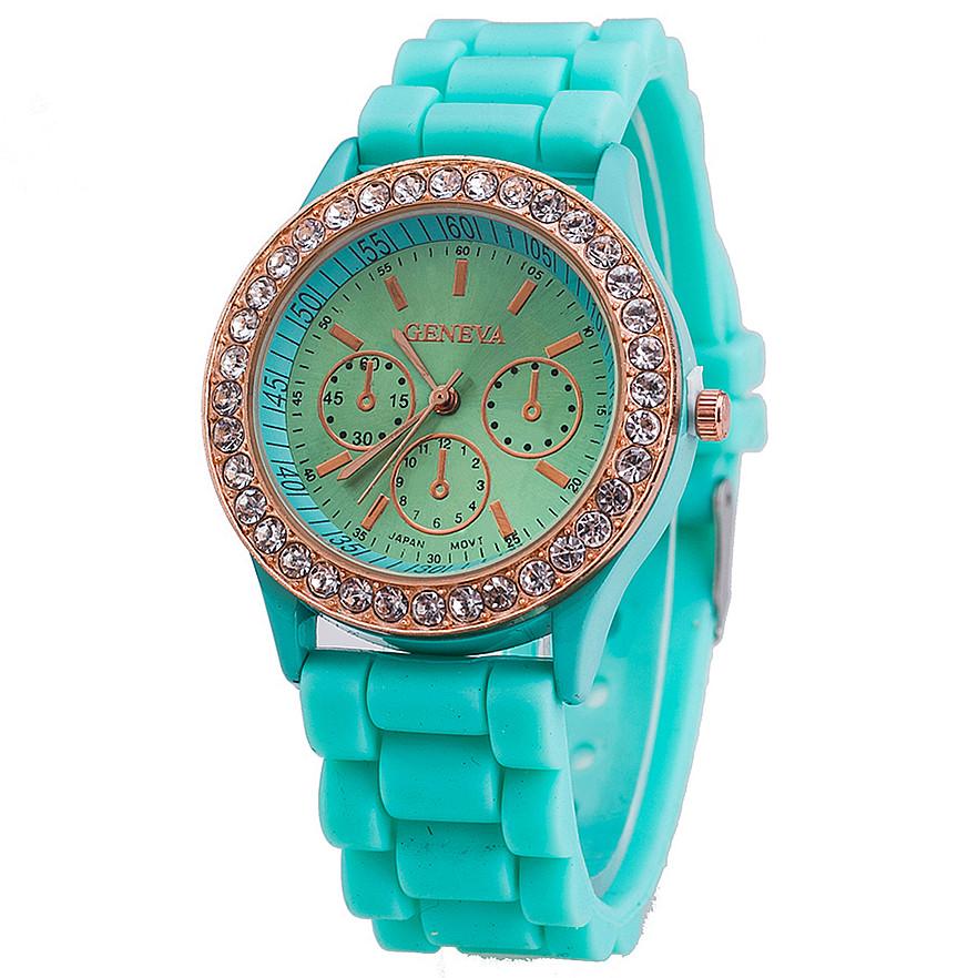 Jelly Silicone Geneva Watch Relogio Feminino Fashion Women Wristwatch Rhinestone Casual Luxury Watches - aiwise store