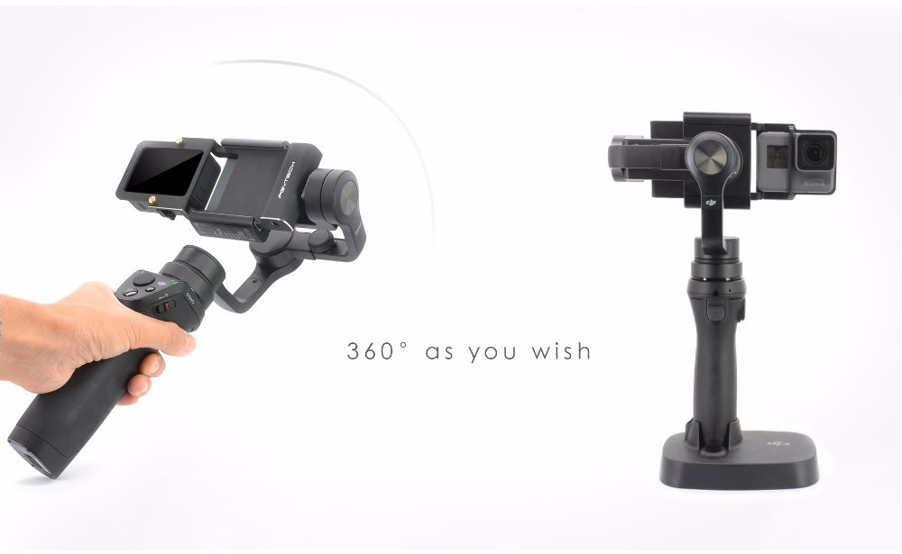 PGY Gopro Hero 5 4 3+ accessories Adapter switch mount plate for DJI osmo mobile gimbal Camera handheld phone drone parts
