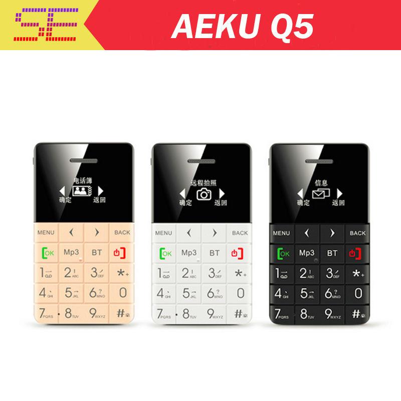 AIEK QMART Q5 M5 Card Mobile Phone 5.5mm Ultra Thin Pocket Mini Phone Quad Band Low Radiation AEKU Q5 Card Cell phone(China (Mainland))