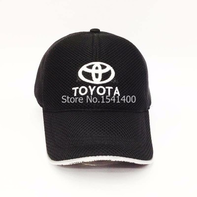 new arrived 6 colours white toyota Souvenir Caps toyota baseball cap mesh style race hat(China (Mainland))