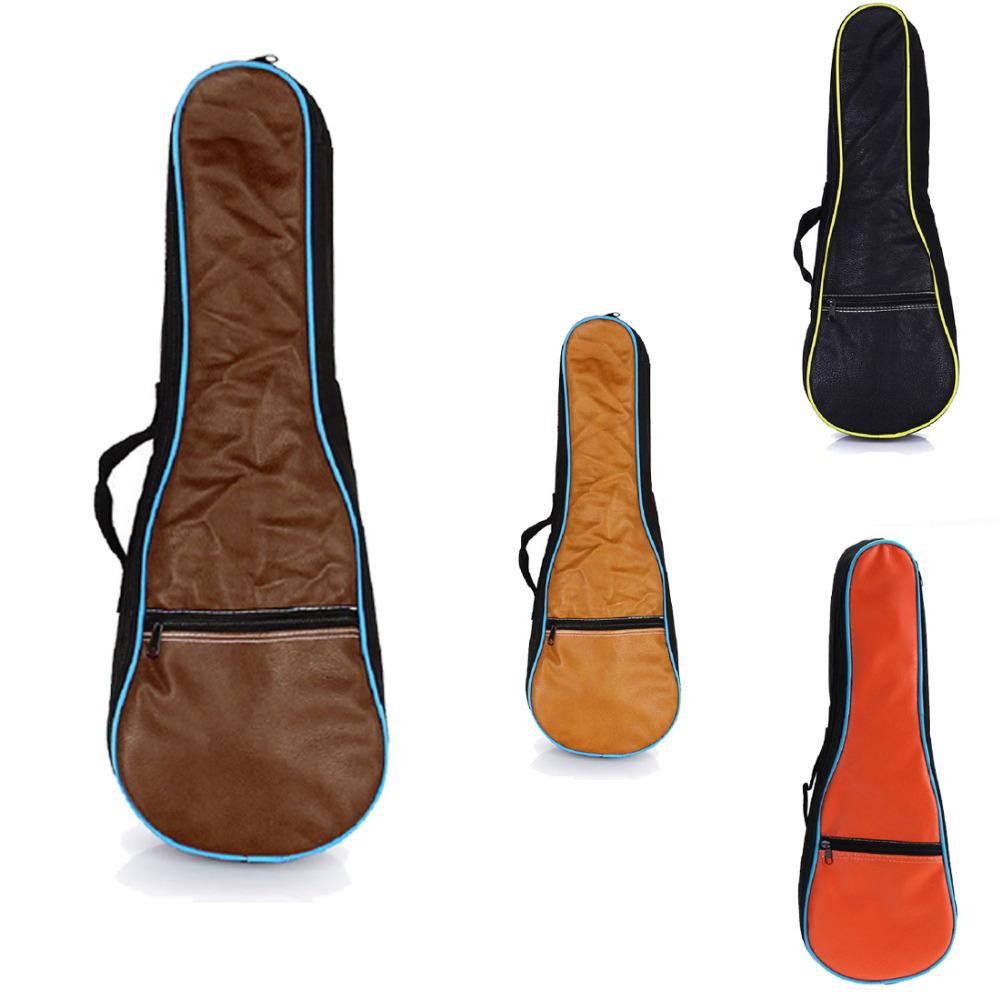 """24"""" Ukulele Uke Soft Case 0.5cm Cotton Padded Gig Bag Water-proof PU Leather Thick Durable Guitar Gig Bag(China (Mainland))"""