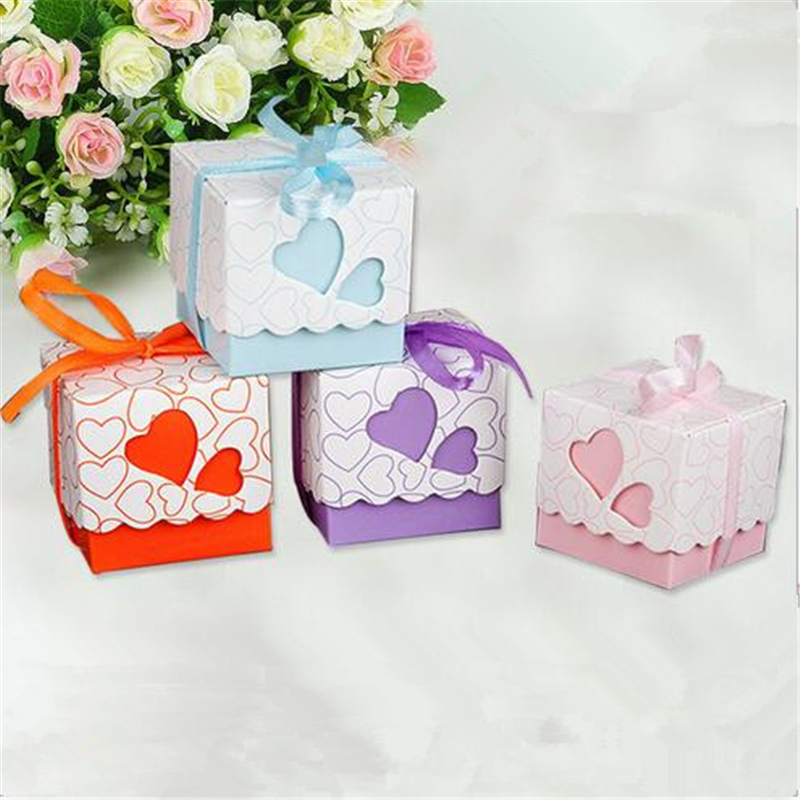 Buy Wedding Gift Box : -Heart-Wedding-Favor-Boxes-Bonbonniere-Candy-Box-Wedding-Gift-Box ...
