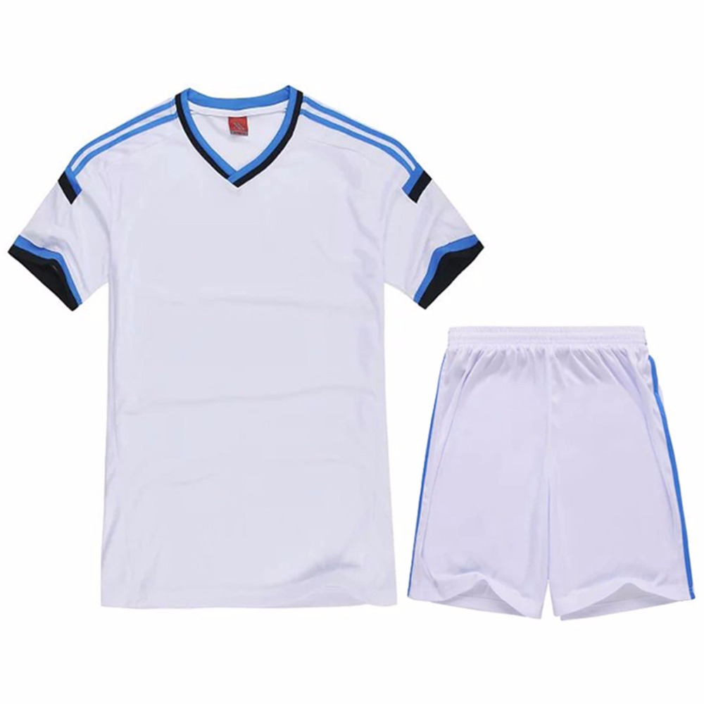 New arrival mens boy football jerseys paintless blank soccer full set costumes suits training sports wears clothes costumes(China (Mainland))