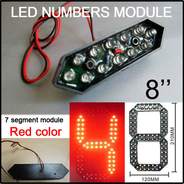 """8"""" red color led digita numbers module,led gas price,led sign,advertising board,led billboard,led temperature and time display(China (Mainland))"""