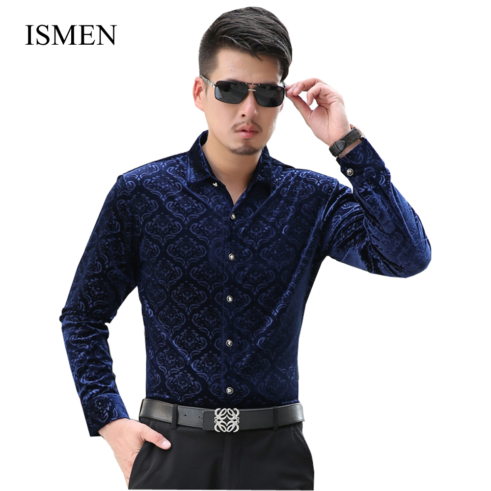 ismen men shirts long sleeve velvet dress shirt business male fashion chemise masculina camisa. Black Bedroom Furniture Sets. Home Design Ideas