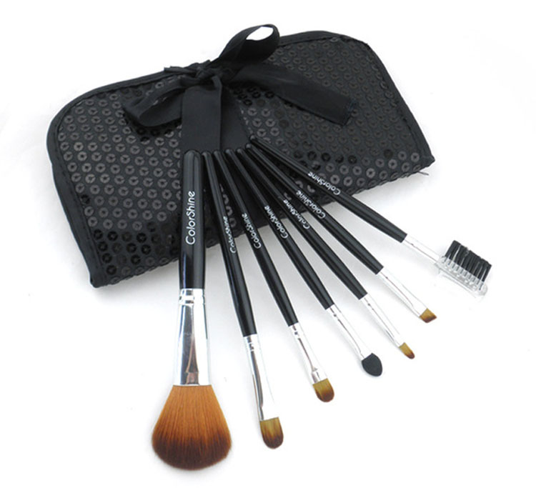 free shipping women beauty shining cosmetic makeup brushes set bag tool box pennelli trucco maquiagem(China (Mainland))