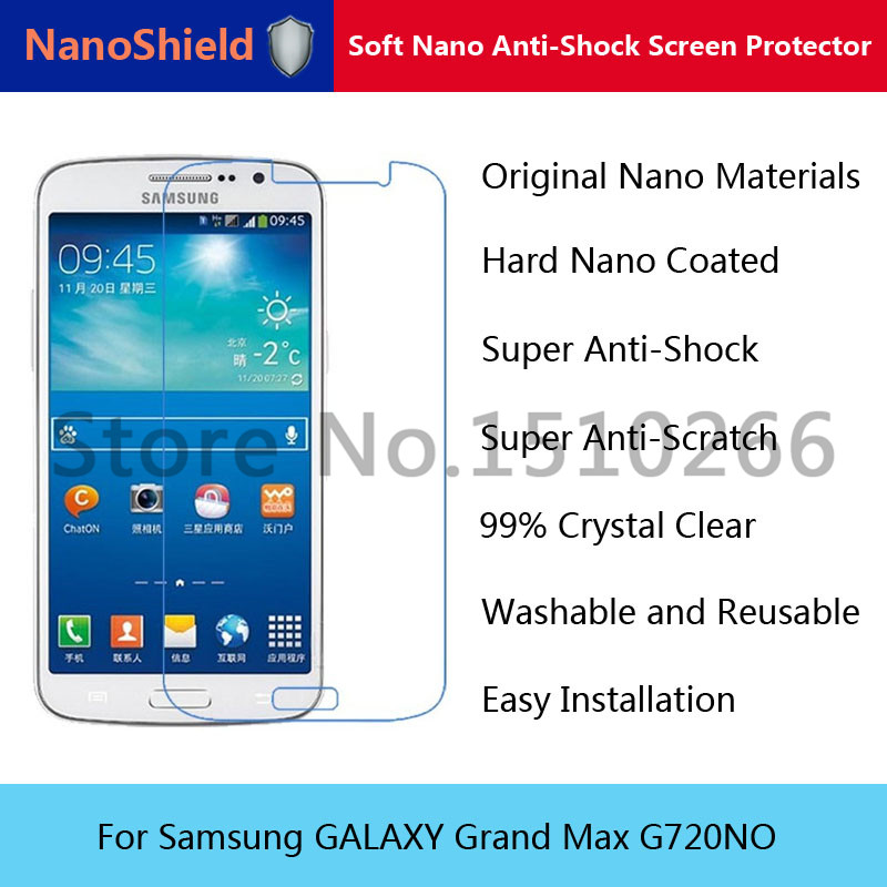 NanoShield Soft Nano Explosion-proof Anti-Shock Screen Protector Film For Samsung GALAXY Grand Max G720NO With Retail Packaging