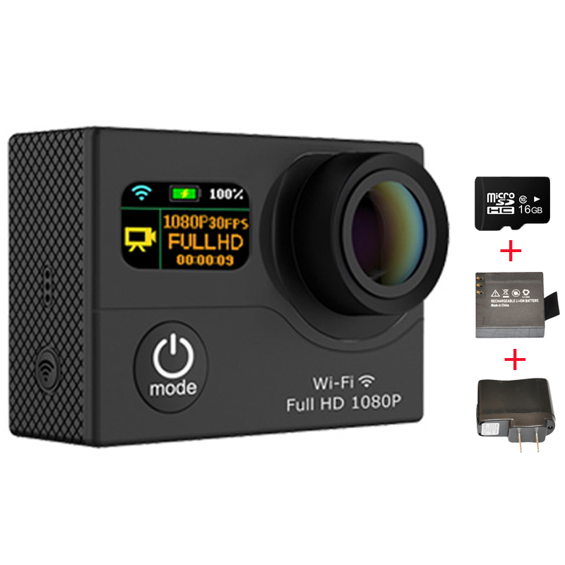 1080P Sport Action Camera Wifi Waterproof Sports Camera Mini Camera + Extra Charger + Battery + 16GB Class10 Micro SD Card<br><br>Aliexpress