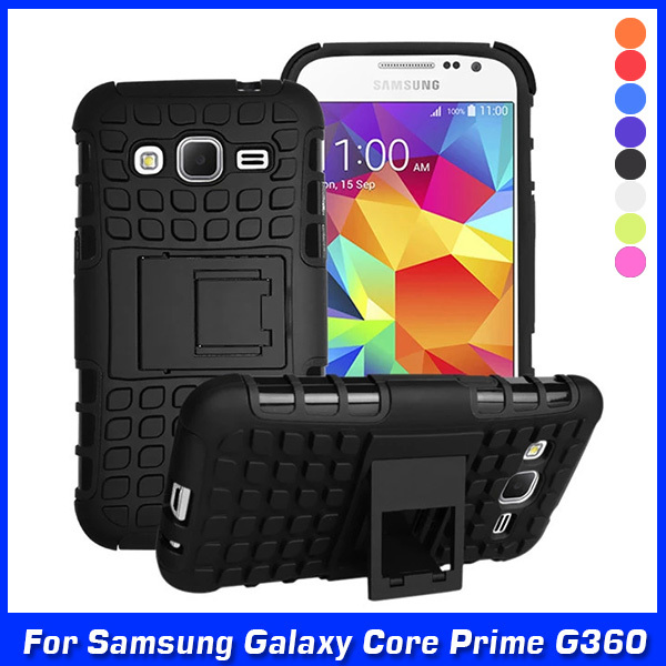 New Hybrid Silicone + Hard Shell Cell Phone Case Cover For Samsung Galaxy Core Prime Lte G360 G360H G360G G360F Case Back Cover(China (Mainland))
