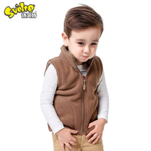 Svelte Brand Winter Kids Boys Fleece Vest Candy Color Zipper Solid Waistcoat Inside Fur Kids Boys Vest