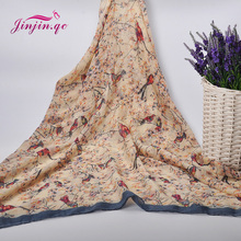 2016 New Trending Style Magpie printed Scarves and Shawls Muslim Women Hijab Sunscreen Soft Beach Shawl and pashmina