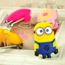 Despicable Me Yellow Minions Nail Clippers Silica Gel Cartoon Nail Scissors, nail clippers, nail tools (China (Mainland))