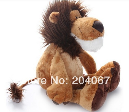 "2014 Popular NICI Lion Stuffed Doll Plush Jungle Series Animal TOYS 25CM OR 10"" FREE SHIPPING On Sale(China (Mainland))"