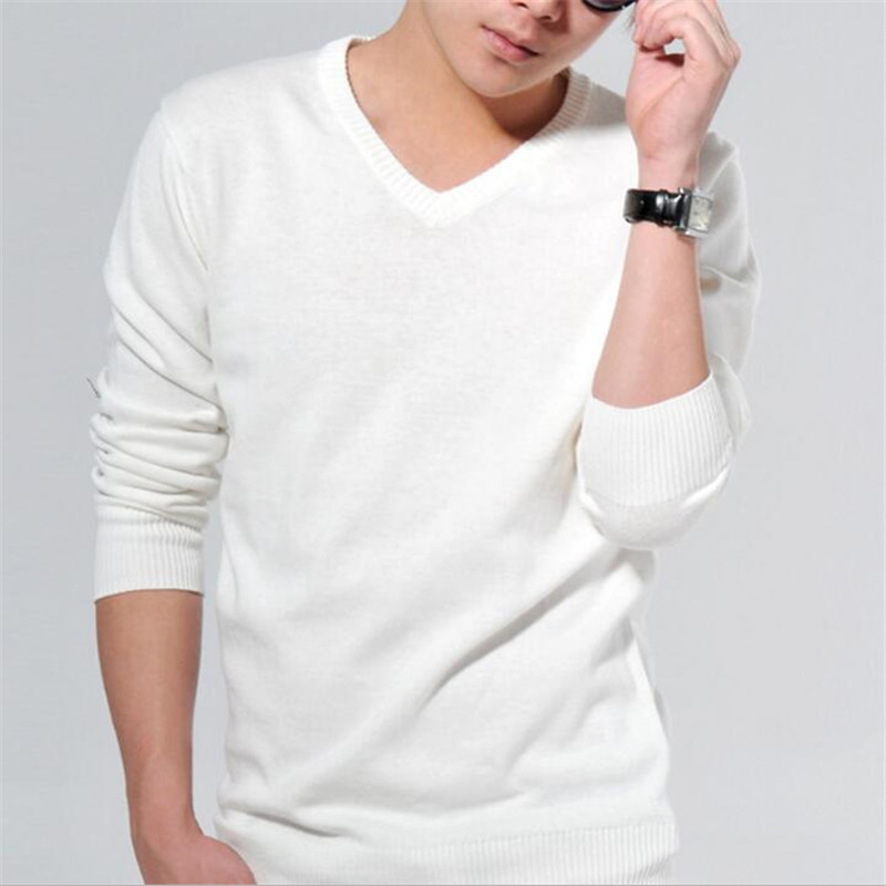 2017 Spring New Men Knitted Pullovers Men Long Sleeve Slim Fit Sweaters Solid V-neck Brand Clothing Fashion Sweater Men MZM002(China (Mainland))
