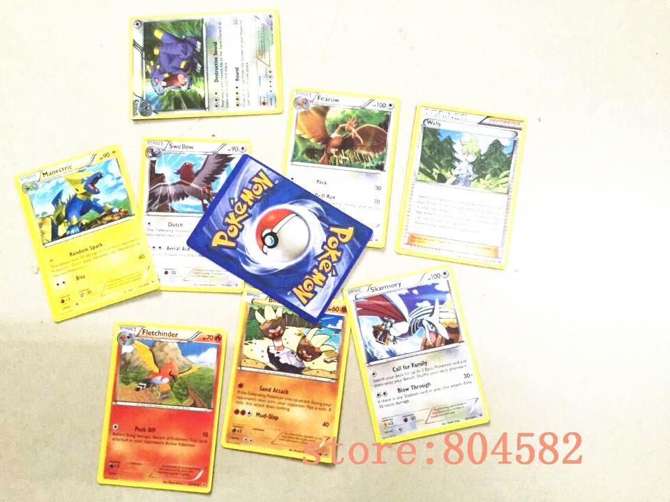 NEW Pokemon Cards English anime XY POKE MON Trading Cards toys children gift 9pcs/lot 8pcs General card + 1pcs FLASH card(China (Mainland))